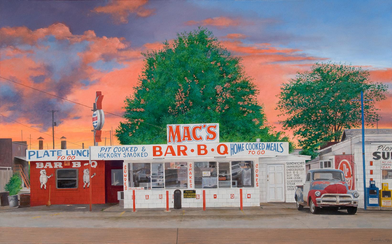 Kiss my grits paintings by john baeder artstormer for Diner artwork