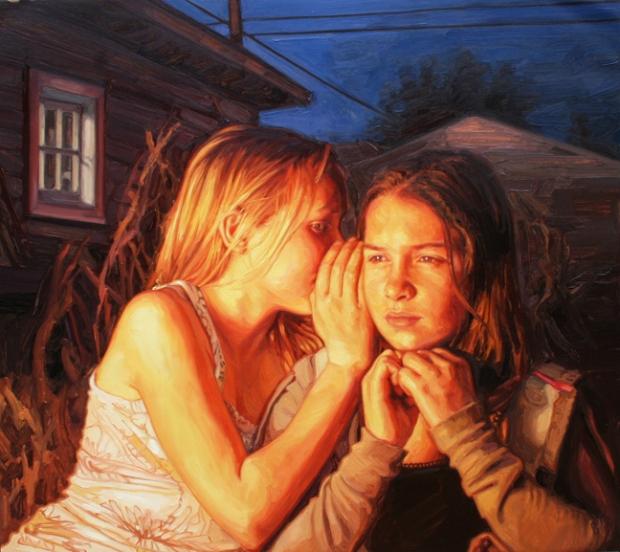 artstormer, laura sanders, art, painting, swimming paintings, realism
