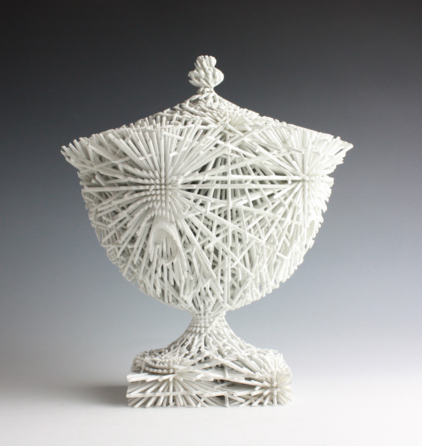 """Cubify"" 3D Printed ""Ceramics"" By Michael Eden"