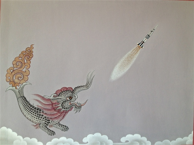 Dragon Chasing Rocket