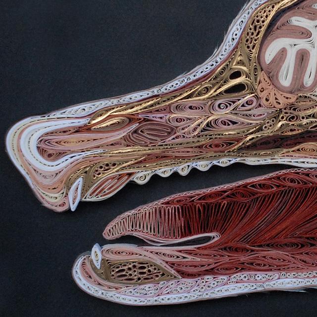 "Anatomy"" Quilled Paper Sculptures by Lisa Nilsson ArtStormer"