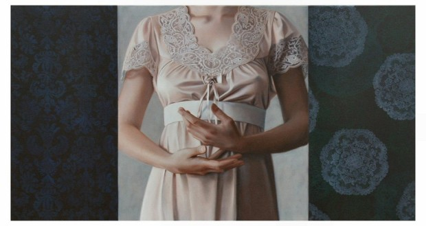 Shhh...exhibition 2008 - Enfold - Oil on Canvas 71 x 131cm(1)