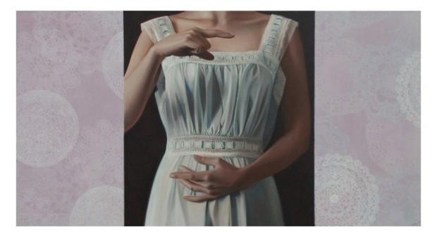 Shhh...exhibition 2008 - Patience - Oil on Canvas 71 x 131cm (3)(1)