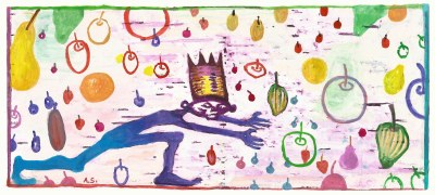 King of Falling Fruit rug design email