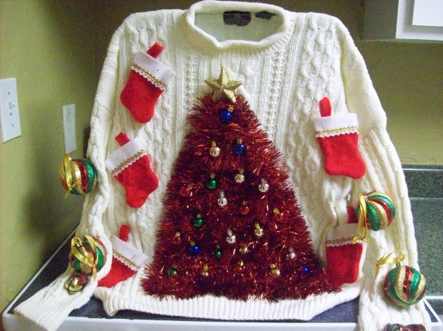 ugly-christmas-sweater-09-tree-made-from-tinsel-and-christmas-stockings
