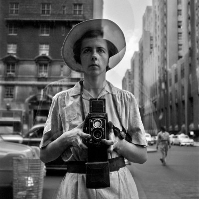 Vivian Maier with her camera