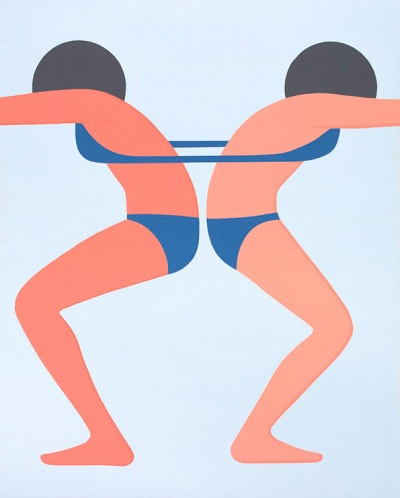 Geoff McFetridge double bikini bathing suits