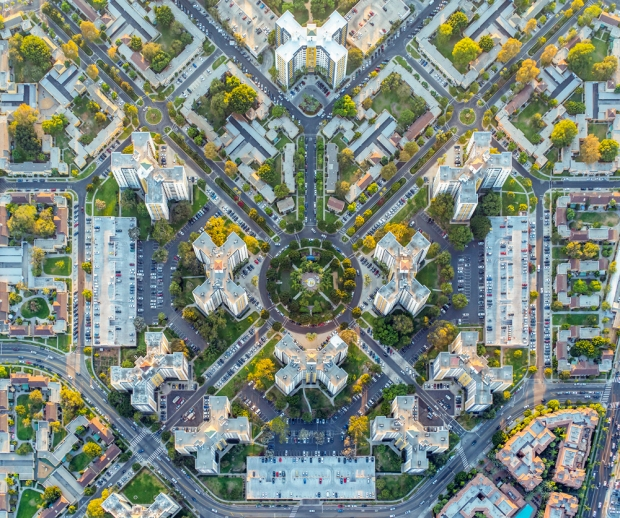 Aerial Cityscapes photography